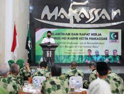 Dihadapan Peserta Pelantikan dan Rapat Kerja KAHMI Kota Makassar Danny Paparkan Isolasi Apung Bagi Pasien Covid 19